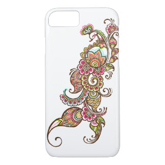 colourful peacock iPhone 7 case