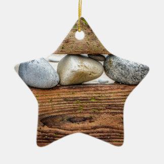 Colourful Pebbles Ceramic Ornament