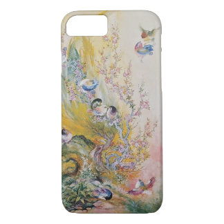 Colourful Pink Birds in Nature iPhone 7 Plus Case