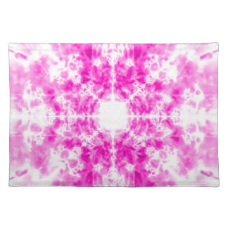 Colourful pink kaleidoscope pattern placemat