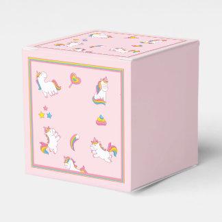 Colourful Pink Unicorns Favour Box