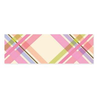 Colourful Plaid Profile Card Business Card Templates