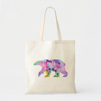 Colourful Polar Bear Tote Bag