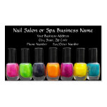 Colourful Polish Bottles, Nail Salon Appointment Pack Of Standard Business Cards