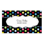 Colourful polka dot business cards