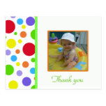 Colourful Polka-dot: Picture: Thank You Card Postcard