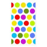 Colourful Polka Dots Business Card Templates