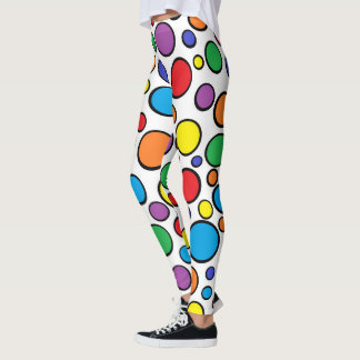 Colourful Polka Dots Leggings