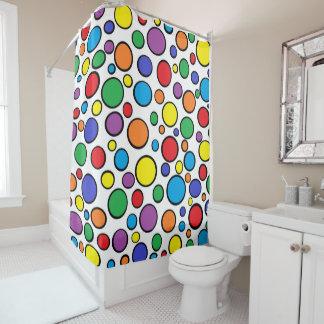 Colourful Polka Dots Shower Curtain