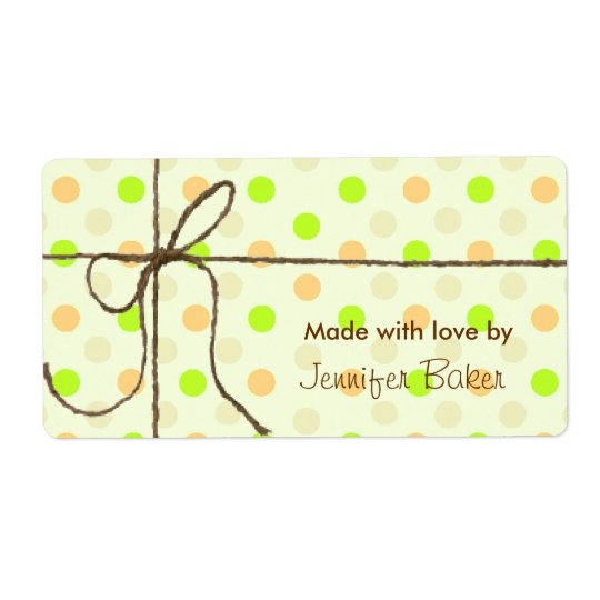 Colourful Polka Dots Tied Package Labels