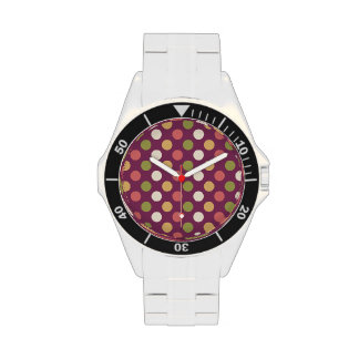 Colourful polkadots wristwatches