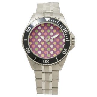 Colourful polkadots wrist watches