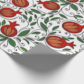 Colourful  pomegranate gift wrapping paper