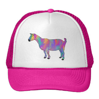 Colourful psychedelic funny goat cap