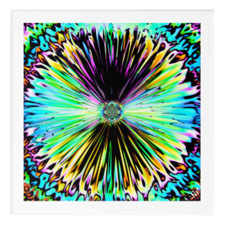 Colourful psychedelic sketch of a flower 3 acrylic print