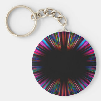 Colourful psychedelic starburst key ring
