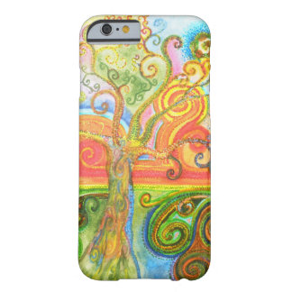 Colourful psychedelic swirly tree iPhone 6 case Barely There iPhone 6 Case