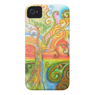 Colourful psychedelic tree Blackberry case