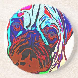 Colourful Pug Coaster