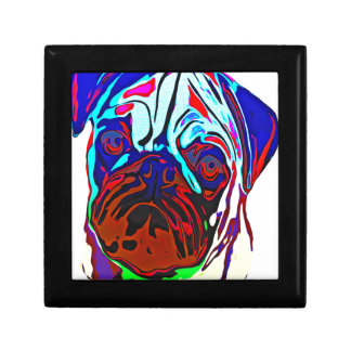 Colourful Pug Gift Box