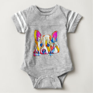 Colourful puppy baby bodysuit