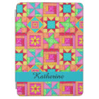 Colourful Quilt Patchwork Block Name Personalised iPad Air Cover