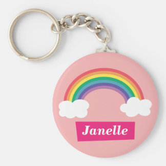 Colourful Rainbow and clouds for Little Girls Key Chains