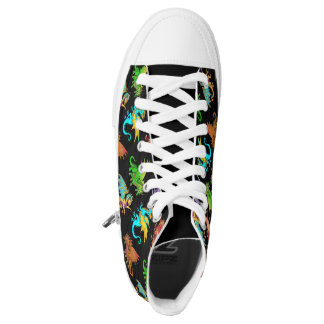Colourful Rainbow Dragons School Printed Shoes