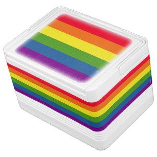 Colourful Rainbow Flag Stripes Cooler