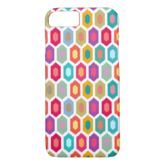 Colourful Rainbow Modern Ikat Pattern iPhone 7 Case