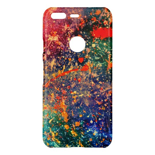 Colourful | Rainbow Splatter Abstract Psychedelic Uncommon Google Pixel Case