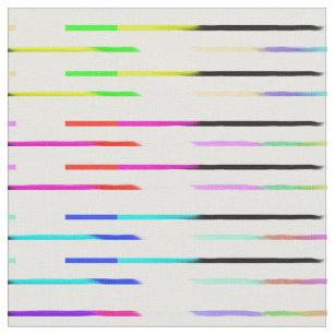 Colourful Rainbow Stripes Pattern Fabric