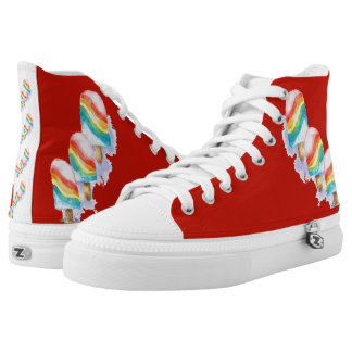 Colourful Rainbow Surprise Popsicle High Tops