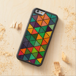 Colourful Rainbow Triangles Pattern iPhone Case