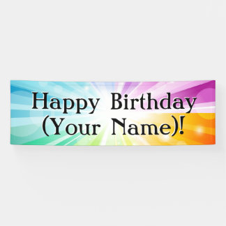 Colourful Rays Personalised Birthday Party Banner