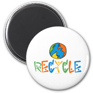 Colourful Recycling Fridge Magnet