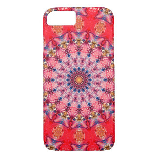 Colourful Red and Pink Mandala iPhone 8/7 Case