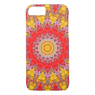 Colourful Red and Yellow Mandala Kaleidoscope iPhone 8/7 Case