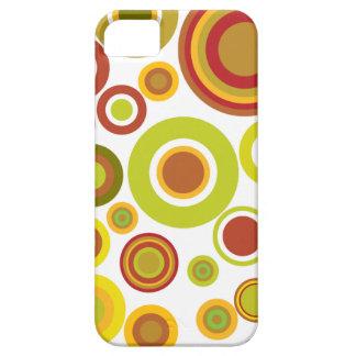 Colourful retro bubbles iPhone 5 case