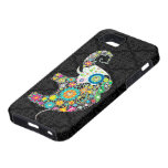 Colourful Retro Flower Elephant Design iPhone 5 Covers