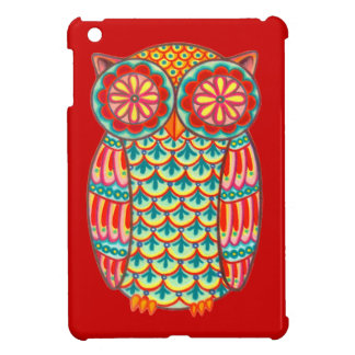 Colourful Retro Owl iPad Mini Case