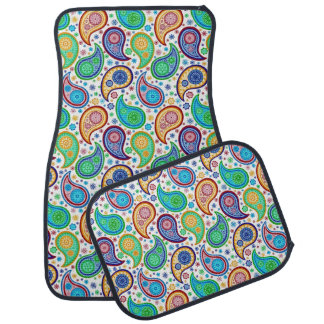 Colourful Retro Paisley Car Mat
