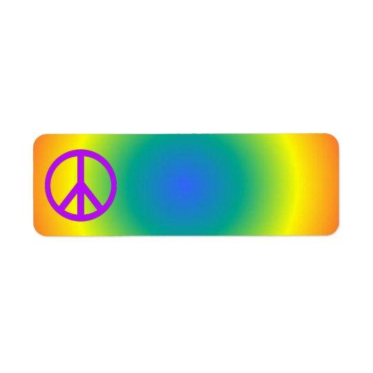 Colourful return address Peace sticker Return Address Label
