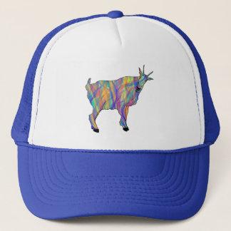 Colourful Ribbons Funny Goat Animal Art Design Trucker Hat