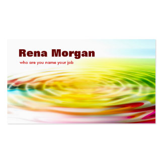 colourful ripple business card