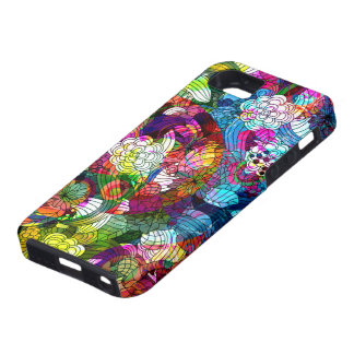 Colourful Romantic Vintage Floral Pattern iPhone 5 Case