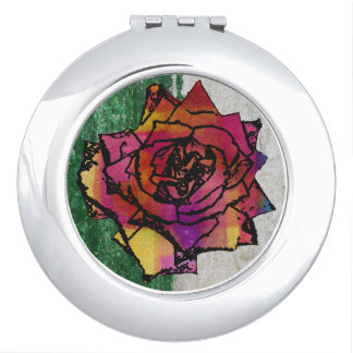 colourful rose makeup mirrors