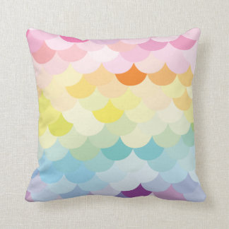 Colourful scale design // pastel cushion