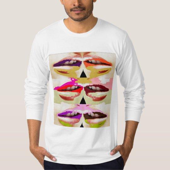 Colourful sensual lips fine art T-Shirt