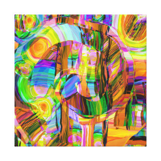 Colourful Shapes Canvas Print